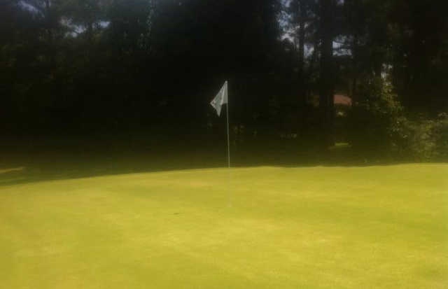 A view of a hole at Hillandale Country Club.