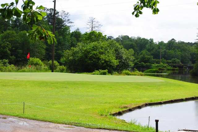 A view of a hole from Cedar Creek Golf Course at Quitman Country Club.