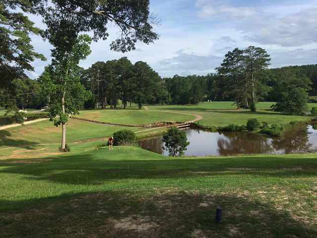 A sunny day view from Cedar Creek Golf Course at Quitman Country Club.
