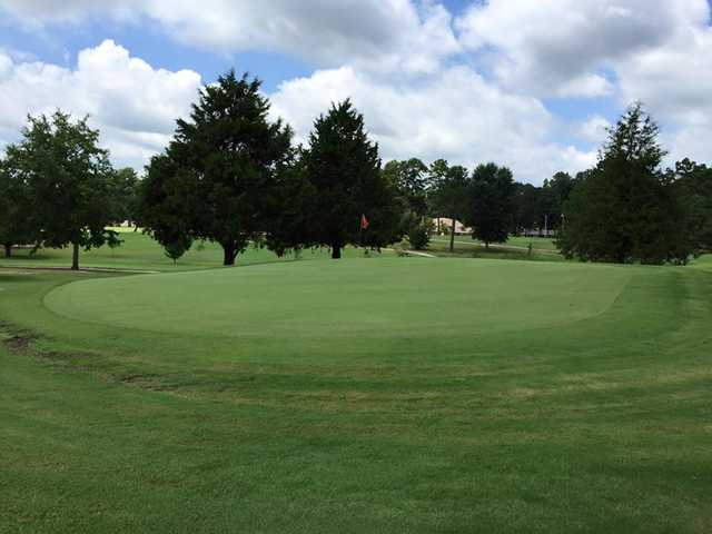A view of the 7th green at Bel Air Golf Course.