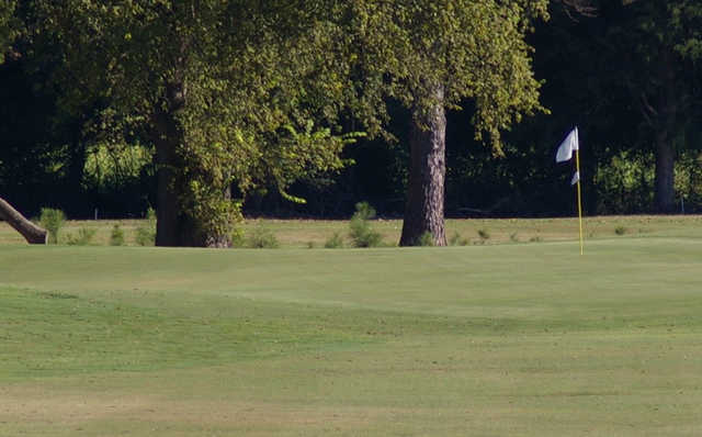 A view of a green at Yalobusha Country Club.