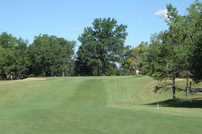 A view of hole #9 at Lincoln Greens Golf Course.