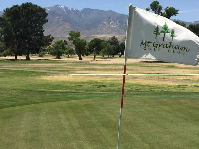 A view from a green at Mt. Graham Golf Course.