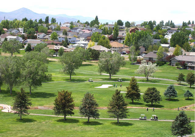 A spring day view from Ruby View Golf Course.