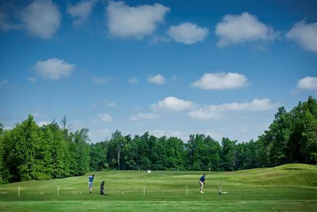 A view of the driving range at Grandover Resort