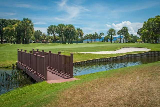A view over a hole at Indian River Colony Club.