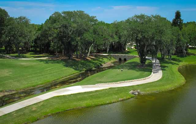 A view of a tee at Indian River Colony Club.