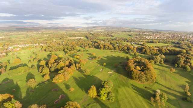 Aerial view from Duxbury Park Golf Club