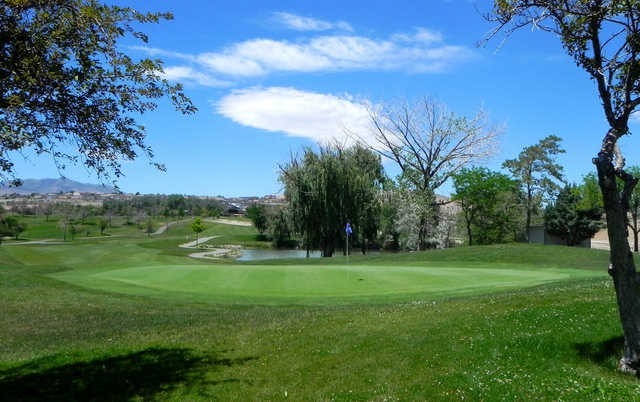 A view of green #1 at Wildcreek Golf Course (Visitrenotahoe).