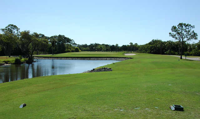 A view from a tee at Myakka Pines Golf Club.