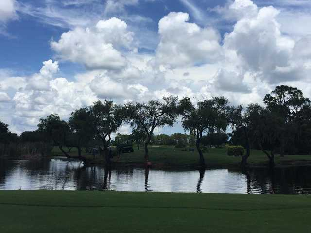 A view over the water from Myakka Pines Golf Club.