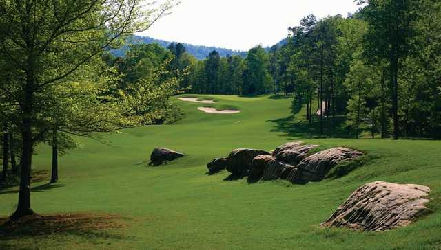 A view of the 10th green at Limestone Springs Golf Club.