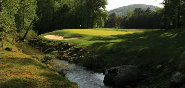 A view of hole #12 at Limestone Springs Golf Club.