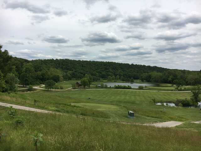 A view of a tee from The Golf Club at Deer Chase.