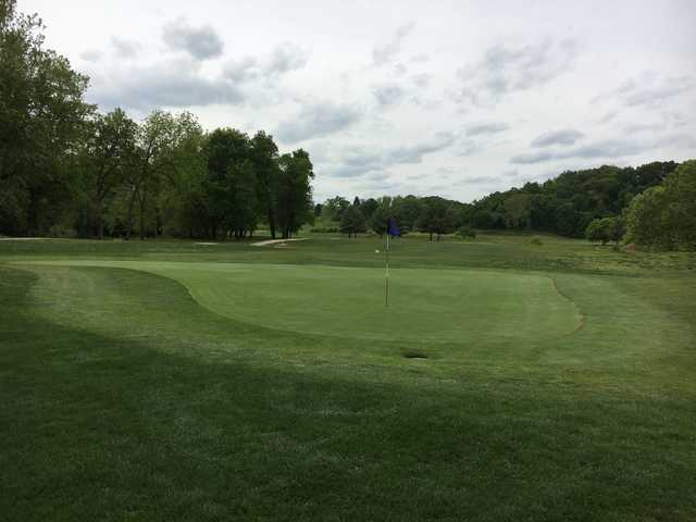 A view of a green from The Golf Club at Deer Chase.