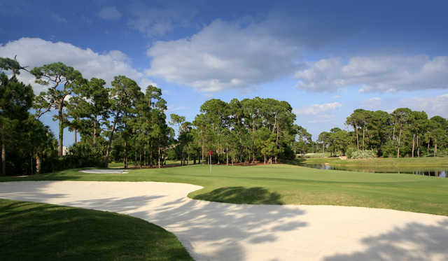 A view of green #2 at Championship Course from The Legacy Golf & Tennis Club.