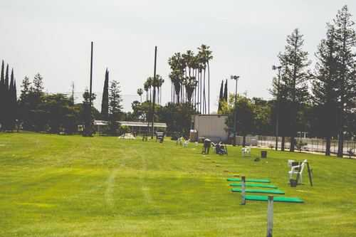 A view of the driving range at St. Stanislaus Golf Course.