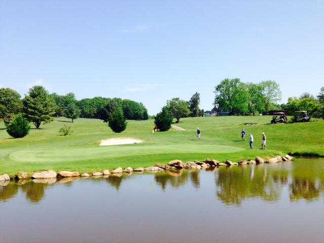 A view of green #9 at Gordon Trent Golf Course.