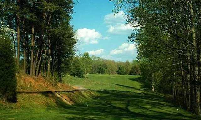 A view from a tee at Gordon Trent Golf Course.