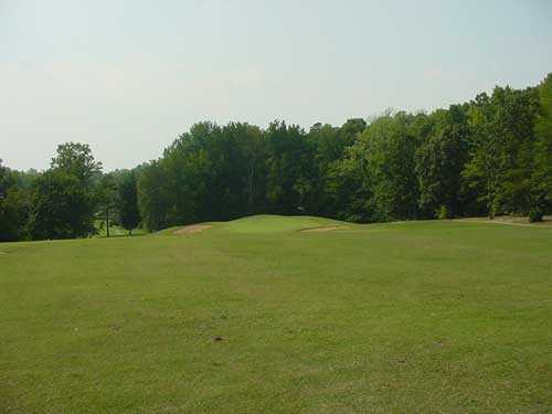 A view of green #14 at King's Mountain Country Club