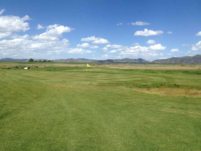 A view of a green at Caribou Highlands Golf and RV.