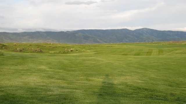 A view of a fairway at Caribou Highlands Golf and RV.