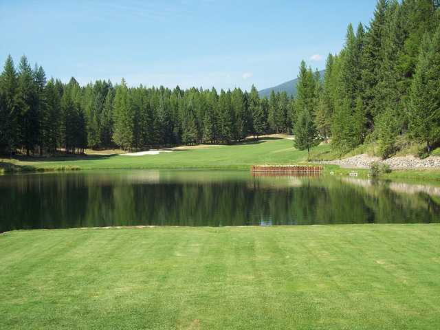 A view of a fairway at Crystal Lakes Golf Course.