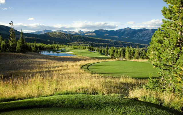 A view from a tee at Spanish Peaks Mountain Club.