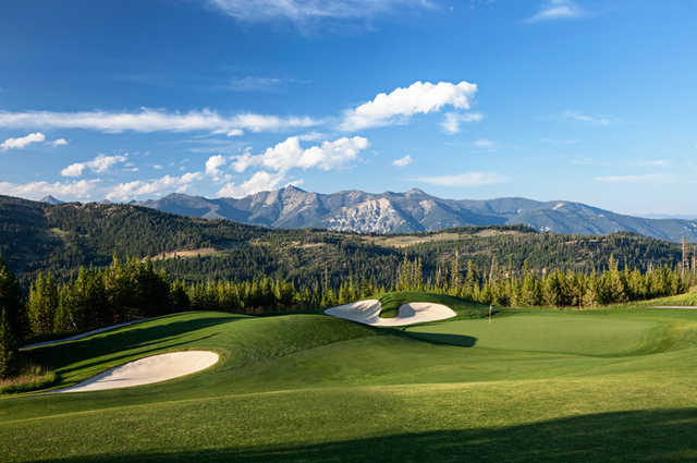 A view of green #17 at Yellowstone Golf Club.