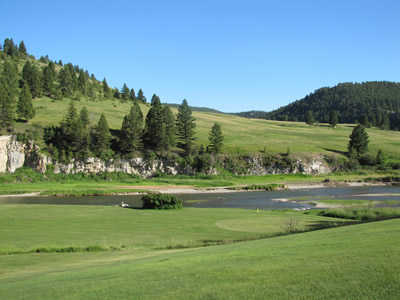 A view of a green at Heaven on Earth Par 3 Ranch & Golf Course.