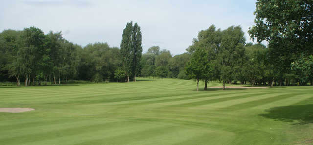 View of the 8th fairway from the 7th green at Didsbury Golf Club