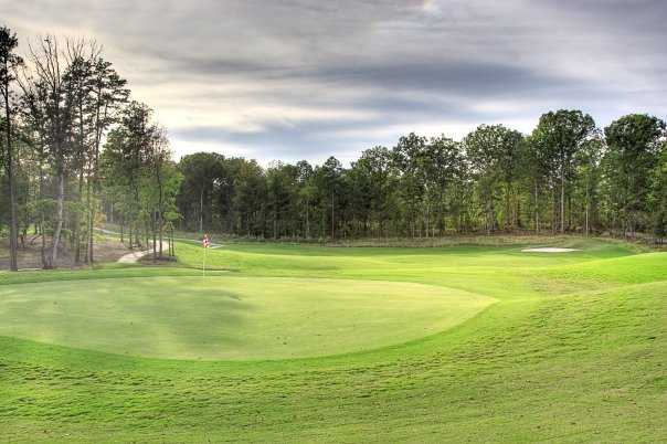 A view of the 13th green at Red Bridge Golf & Country Club