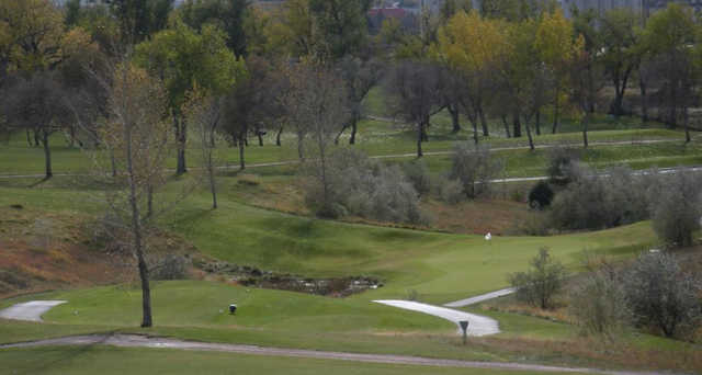 A view of a tee at Anaconda Hills Golf Course.