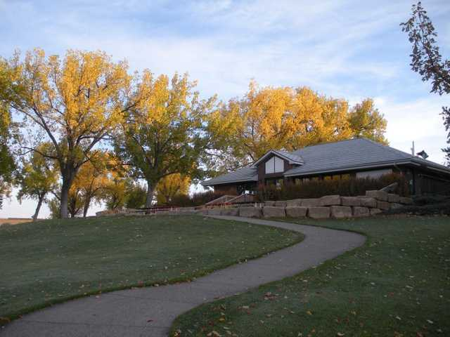 A view of the clubhouse at Anaconda Hills Golf Course.