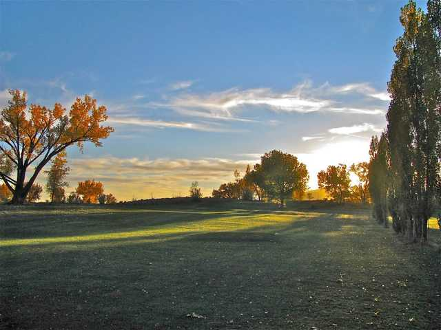 A view of hole #1 at South Forty Golf Course & Driving Range.