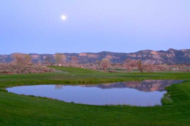 A view over the pond near hole #3 at South Forty Golf Course & Driving Range.