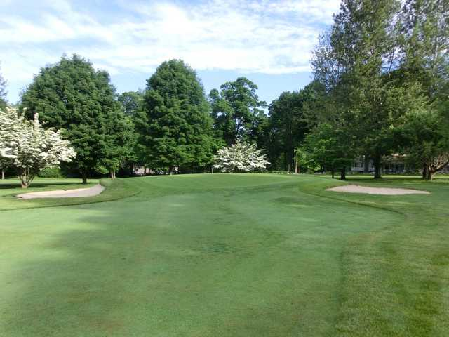 A view of hole #2 at Candlewood Lake Club.