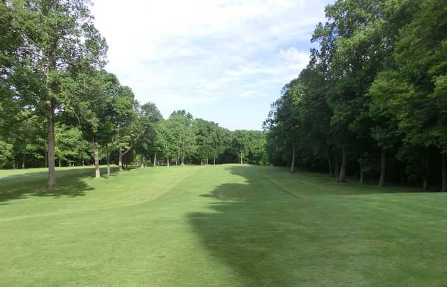 A view of the 5th fairway at Candlewood Lake Club.