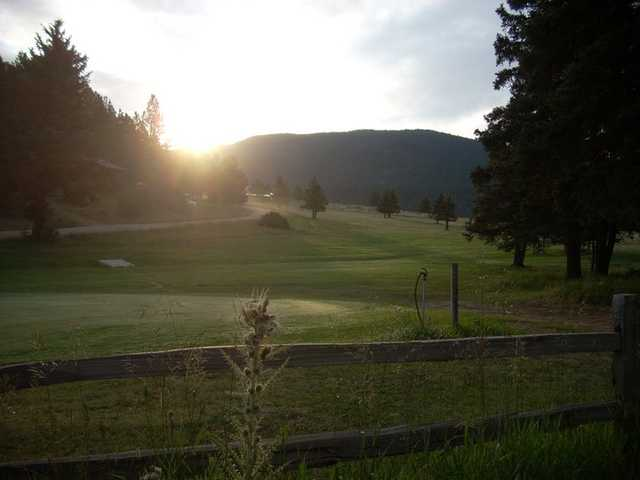 A sunny day view from El Valle Escondido Golf Course.