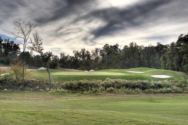 A view of green #18 at Red Bridge Golf & Country Club