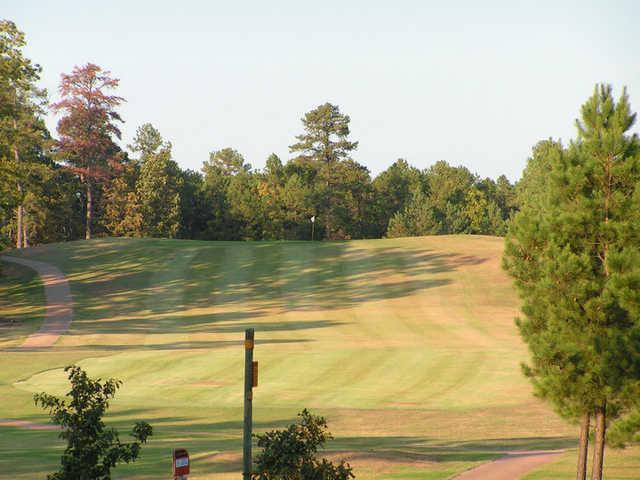 A view of hole #10 at Tannenbaum Golf Club.