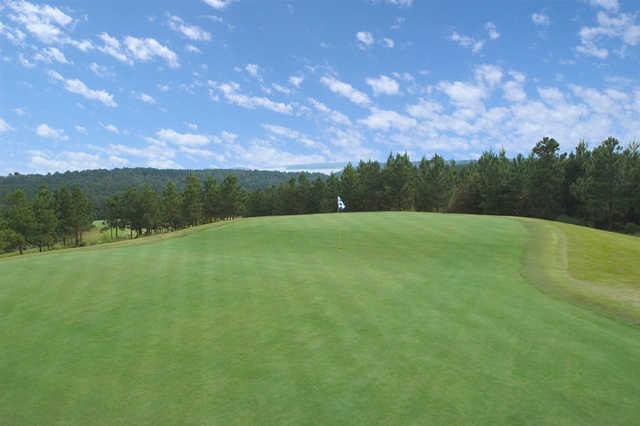 A view of the 11th green at Tannenbaum Golf Club.