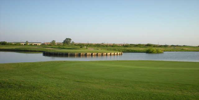 A view of tee #4 at Thunder Bayou Golf Links.