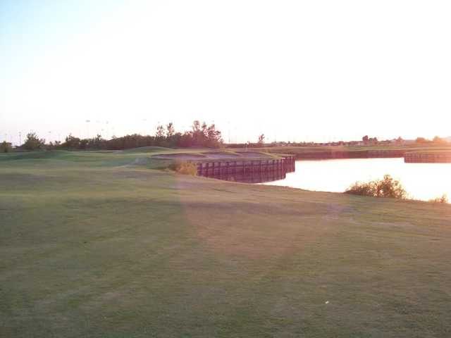 A view of the 2nd green at Thunder Bayou Golf Links.