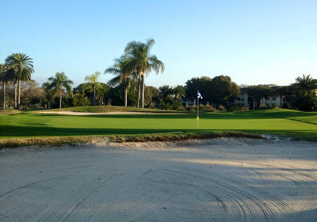 A view of a green at Largo Golf Course (Raymond DArezzo).