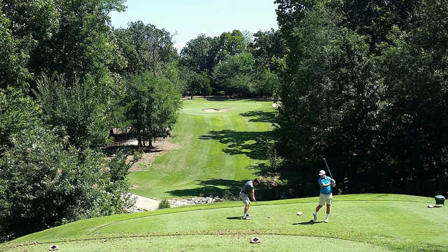 A view from a tee from The Links at Fayetteville Golf & Country Club.