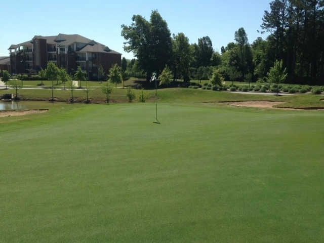 A view of a green from The Links at Fayetteville Golf & Country Club.