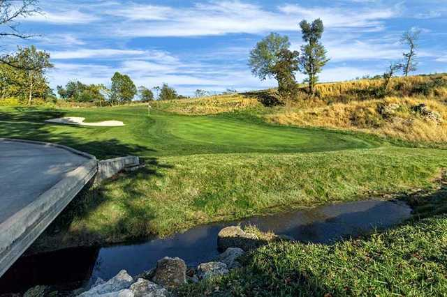 A view of hole #11 at Spirit Hollow Golf Course.