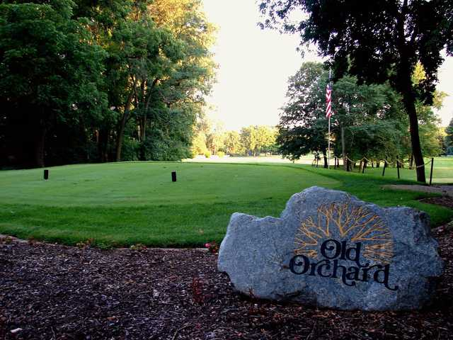 A view of a tee at Old Orchard Golf Course.