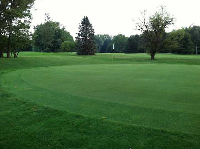 A view of a green at Old Orchard Golf Course.